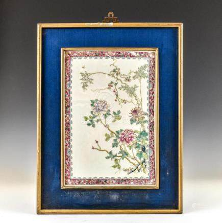 FRAMED REPUBLIC PERIOD PORCELAIN PAINTING