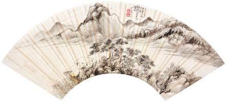 胡佩衡  山水扇面