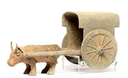 漢 灰陶牛車