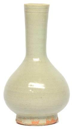 宋 龍泉窰系 青釉玉壺春瓶