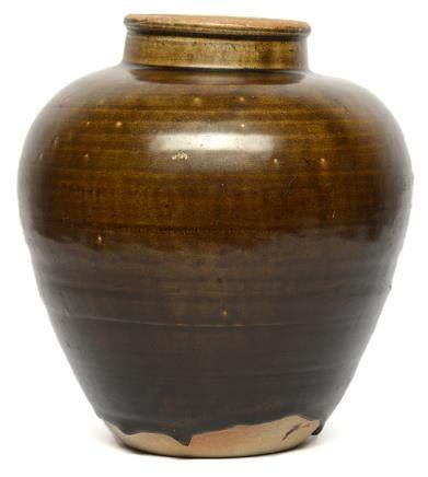 宋/元 褐釉罐