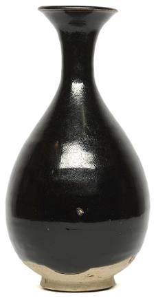金 耀州窰系 深褐釉玉壺春瓶