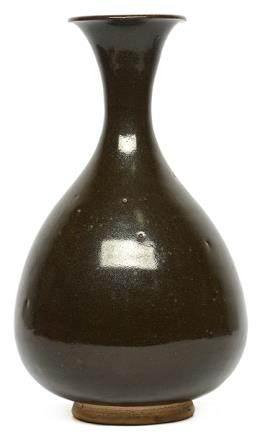 金/元 磁州窰系 黑釉玉壺春瓶