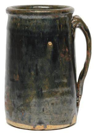 金/元 黑釉帶柄杯