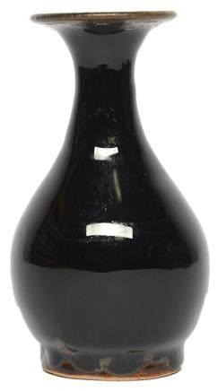 明 北方窰系 黑釉玉壺春瓶