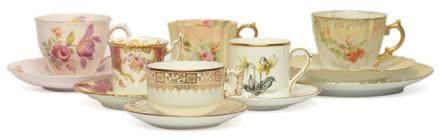 英國 COALPORT、ROYAL WORCESTER等 骨瓷彩釉杯碟六套