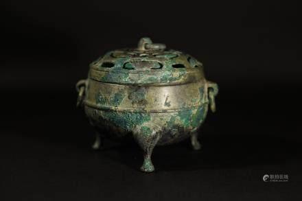 戰國青銅鏤空熏爐