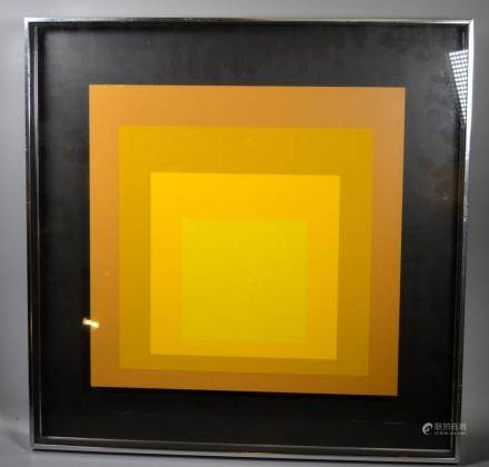 Josef Albers; Yellows, Hommage to the Square 1970