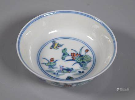 Chinese Guangxu Doucai Porcelain Small Bowl