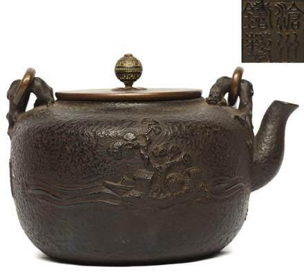 滄州鑄藝 鐡盤螭紐提壺