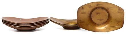 日本 銅茶托十件