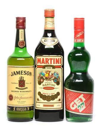 JAMESON 威士忌 連MARTINI 雞尾酒、GET 27 薄荷酒 (共3件)