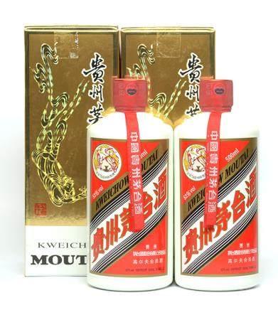 貴州茅台高爾夫紀念版二瓶 500ML (全新、附原裝盒)