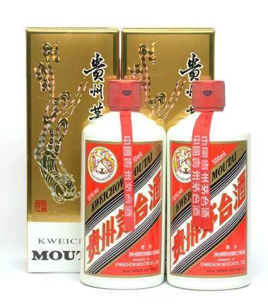 2014年 貴州(飛天)茅台二瓶 500ML (全新、附原裝盒)