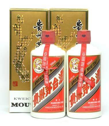 2012年 貴州(飛天)茅台二瓶 500ML (全新、附原裝盒)