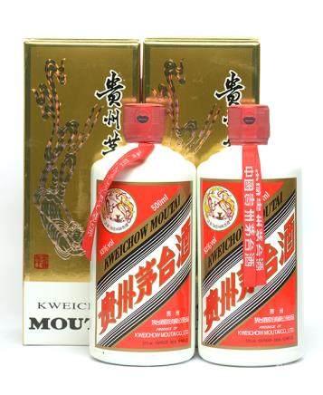 2013年 貴州(飛天)茅台二瓶 500ML (全新、附原裝盒)