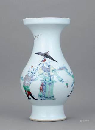 清康熙 鬪彩人物枇杷瓶