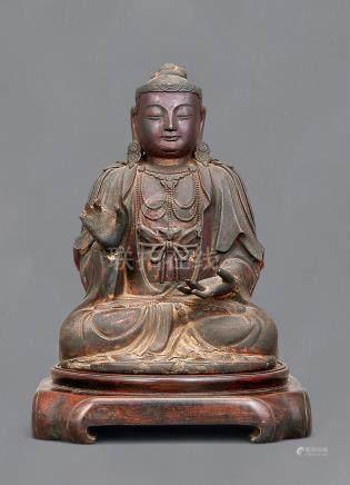 早期 木胎漆金释迦像