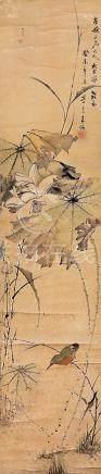 朱偁  荷塘翠鳥