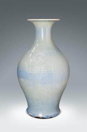 清 藍鈞釉瓶