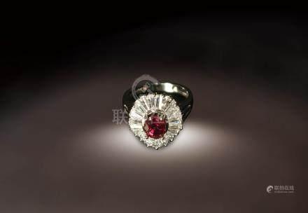 紅寶碧璽指環