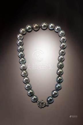 大溪地灰珍珠項鍊