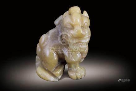民國 壽山石雕獅子玩件