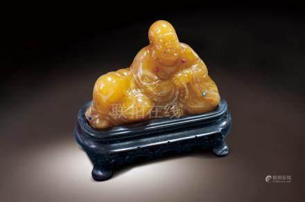 清 枇杷黃田黃羅漢像