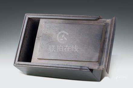 清 紅木印章盒