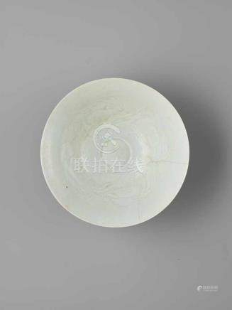 A CARVED QINGBAI BOWL, NORTHERN SONG DYNASTYThe thinly potted conical body with steep sides rising