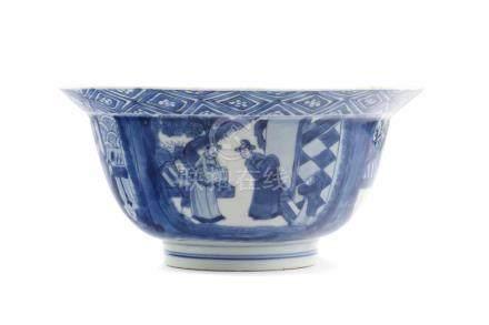 Klapmuts - SchaleChina, Kangxi-Marke und aus der Periode, signiert, D 20,4 cm, H 9,6 cm. Sehr schöne