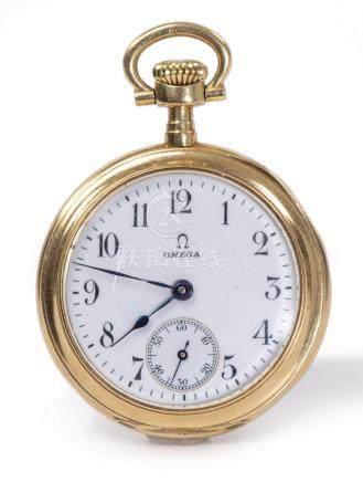 Omega, montre de poche en or .750