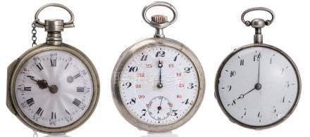 Trois montres de poche
