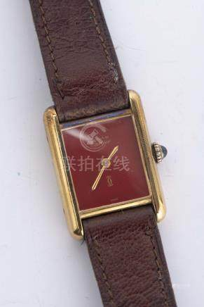 """Must de Cartier"" montre-bracelet de dame plaqué or 20 μ"