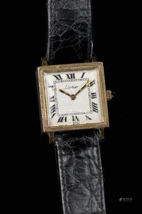 Cartier, montre plaquée or