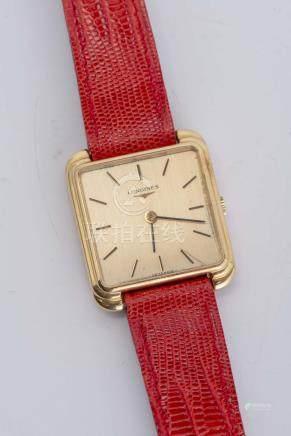 Longines, montre-bracelet en or .750 à remontage manuel
