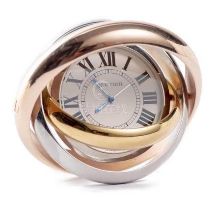 Cartier, pendulette réveil, modèle Trinity