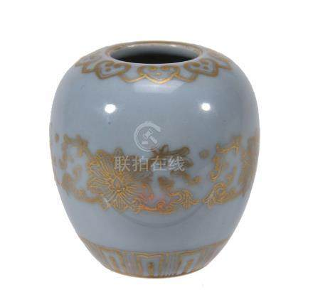 A small Chinese Clair-de-Lune vase