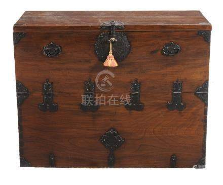 A Chinese elm chest