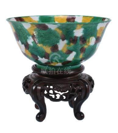 A Chinese Sancai-glazed bowl