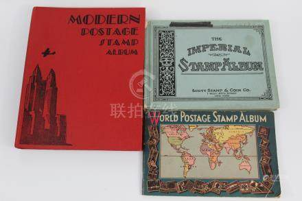 Three Stamp Albums.