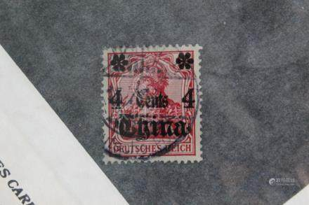 German Post in China.4 cents