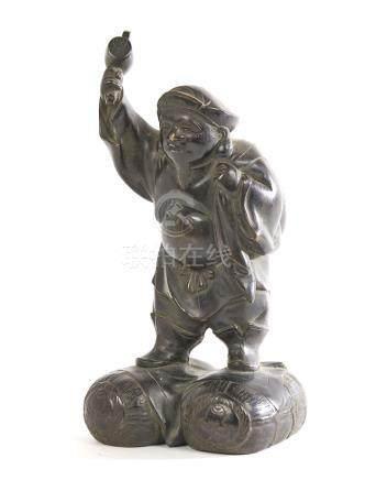 CHINE Magôt en alliage de bronze à patine brune. Epoque XXèm