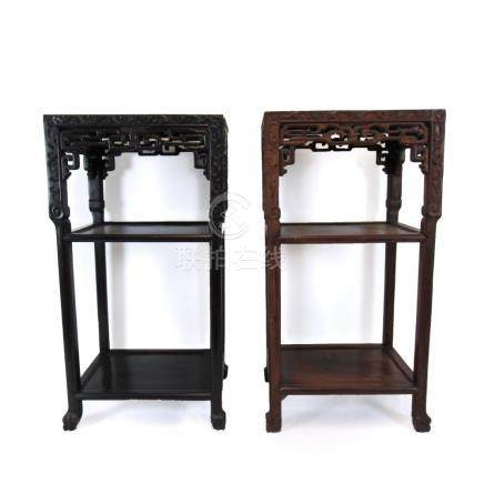 Near Pair of Rectangular Chinese Marble Top