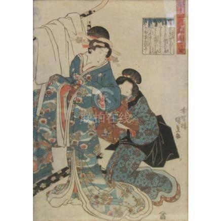 Japanese Woodblock Print After Kunisada.