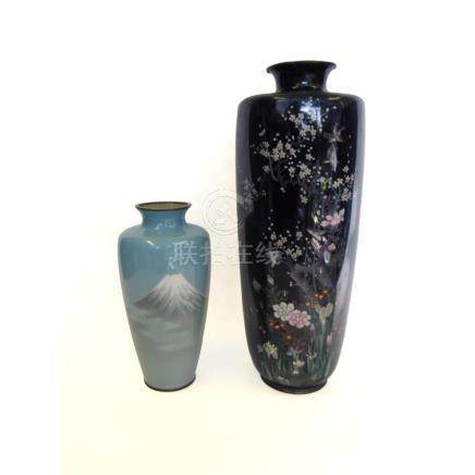 Two Japanese Cloisonne Vases