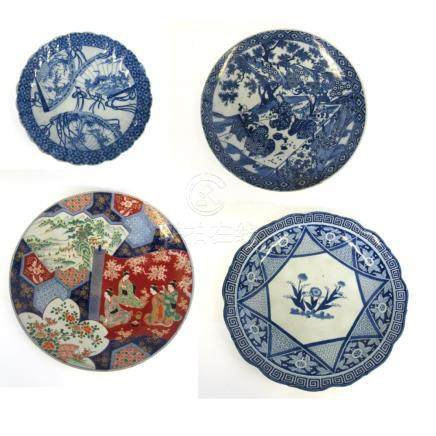 Four Japanese Brocade Pattern Chargers.