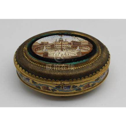 Fine Quality Antique Micro Mosaic Box As / Is.