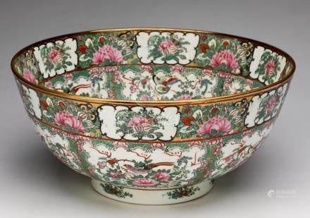 """Chinese Rose Medallion center bowl, 14""""dia."""