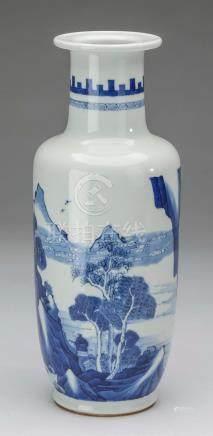 Chinese Ming style blue & white vase, Xuande mark,